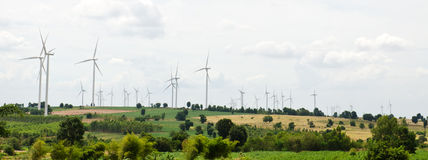 Gerador de turbina eólica Imagem de Stock Royalty Free
