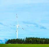 Gerador de vento na paisagem Imagens de Stock