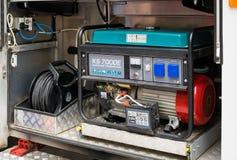 Gerador diesel no carro da assistência técnica para a energia elétrica da emergência foto de stock royalty free