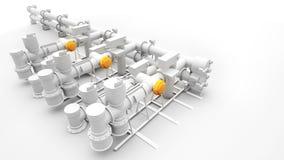 Gerador e maquinaria industriais de potência Foto de Stock Royalty Free
