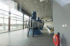 Geradores de turbina da estação de bombeamento fotografia de stock