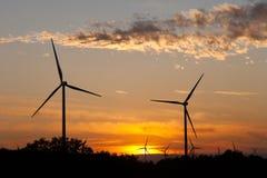 Geradores de vento Foto de Stock
