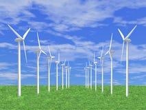 Geradores de vento Fotografia de Stock