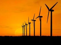 Geradores de vento Imagens de Stock Royalty Free