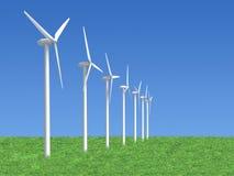 Geradores de vento Fotos de Stock Royalty Free