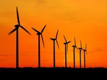 Geradores de vento Fotografia de Stock Royalty Free