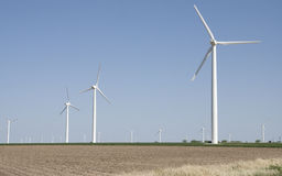 Geradores pstos vento da eletricidade fotos de stock