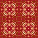 Geraffineerde Naadloze Gouden Patroondecoratie Stock Foto