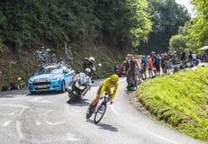 Geraint托马斯-环法自行车赛的优胜者2018年 免版税库存照片