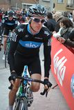 Geraint Thomas relaxed before the start Stock Photos