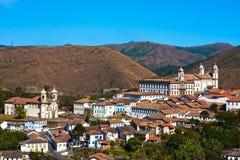 Gerais Brasil de minas da arquitetura da cidade do preto de Ouro Foto de Stock Royalty Free