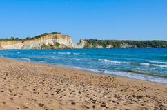 Gerakas beach. Gerakas is considered one of the most beautiful beaches of the island of Zakynthos. Is a long, sandy beach with crystal clean water Stock Images