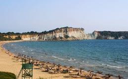 Gerakas Beach on the island of Zakynthos Royalty Free Stock Photography