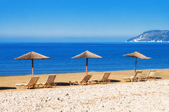 Gerakas beach (protected Caretta Caretta turtle nesting site) on Zakynthos island. Greece royalty free stock image