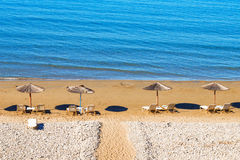 Gerakas beach (protected Caretta Caretta turtle nesting site) on Zakynthos island Royalty Free Stock Photography