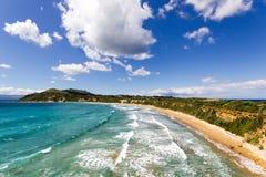 Gerakas beach sea turtle nesting site. Gerakas beach protected sea turtle nesting site.Greek island of Zakynthos royalty free stock photography