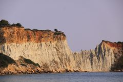 Gerakas cliffs on the island of zakynthos royalty free stock images