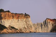 Gerakas cliffs on the island of zakynthos Royalty Free Stock Images