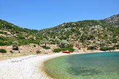 Gerakas plaża, Alonnisos wyspa, Grecja obraz stock