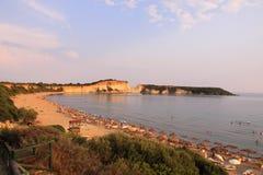 Gerakas plaża na wyspie Zakynthos obraz stock