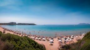 Gerakas plaży panorama zdjęcia stock