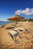 Gerakas wyrzucać na brzeg na Zakynthos wyspie (ochraniający Caretta Caretta żółw gniazduje miejsce) obraz stock