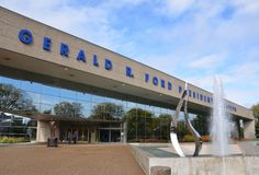 Gerald R Ford Presidential Museum in Grand Rapids royalty-vrije stock fotografie