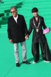 Geraldine Chaplin and her husband Patricio Castill. MOSCOW, RUSSIA - JULY 2: Geraldine Chaplin and her husband Patricio Castilla arrives at the closing ceremony Royalty Free Stock Photos