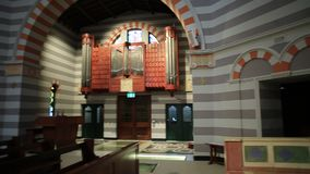 Geraldton Cathedral chancel stock footage