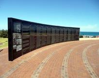 Geraldton, Australia occidental 1 de noviembre de 2007: La pared de la conmemoración Foto de archivo