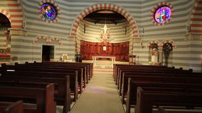 Geraldton Cathedral interior stock video footage