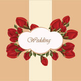 Geranium flower wedding invitation Stock Image