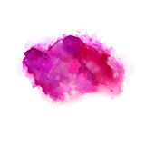 Geranium, hot pink and magenta watercolor stains. Bright color element for abstract artistic background. Stock Images