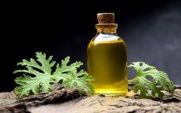Geranium oil aromatherapy bio organic SPA. Alternative medicine royalty free stock photography