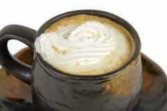 Geranselde koffiekop Royalty-vrije Stock Foto