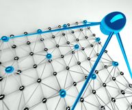 Gerarchia e gestione, piramide 3d Immagine Stock