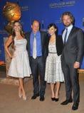 Gerard Butler, Woody Harrelson, Rashida Jones, Sofia Vergara Lizenzfreies Stockfoto