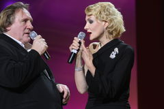 Gerard Depardieu and Renata Litvinova Royalty Free Stock Photo