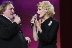 Gerard Depardieu and Renata Litvinova Royalty Free Stock Photo