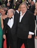 Gerard Depardieu & Sepp Blatter fotos de stock royalty free