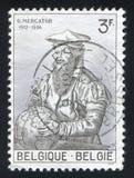 Gerard Mercator. BELGIUM - CIRCA 1962: stamp printed by Belgium, shows Gerard Mercator, circa 1962 Royalty Free Stock Image