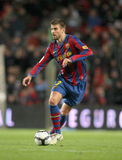 Gerard Pique of Barcelona. FC Barcelona player Gerard Pique during Spanish league match between Barcelona vs RCD Mallorca at the Nou Camp Stadium on November 7 Royalty Free Stock Images