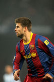 Gerard Pique of Barcelona. During the match between FC Barcelona and Malaga CF at the Nou Camp Stadium on January 16, 2011 in Barcelona, Spain Stock Photography