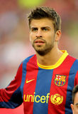 Gerard Pique of Barcelona. Before the match between FC Barcelona and UD Almeria at the Nou Camp Stadium on April 9, 2011 in Barcelona, Spain Stock Image