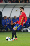 Gerard Pique. Bernabeu defender of the Spanish National Football Team, pictured during the friendly match between Romania and Spain, played at Cluj Arena Stock Images