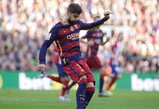 Gerard Pique of FC Barcelona Royalty Free Stock Images