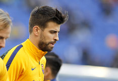 Gerard Pique of FC Barcelona. Before a Spanish League match against RCD Espanyol at the Power8 stadium on January 2, 2016 in Barcelona, Spain Stock Photo