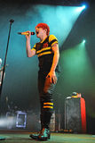 Gerard Way, frontman of My Chemical Romance band, performs at Sant Jordi Club Royalty Free Stock Image