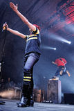 Gerard Way, frontman of My Chemical Romance band, performs at Sant Jordi Club Royalty Free Stock Photo