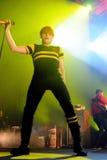 Gerard Way, Mann an der Spitze meines chemischen Romance Bandes, führt bei Sant Jordi Club durch stockbild